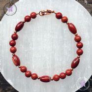 Red Jasper Copper Bracelet